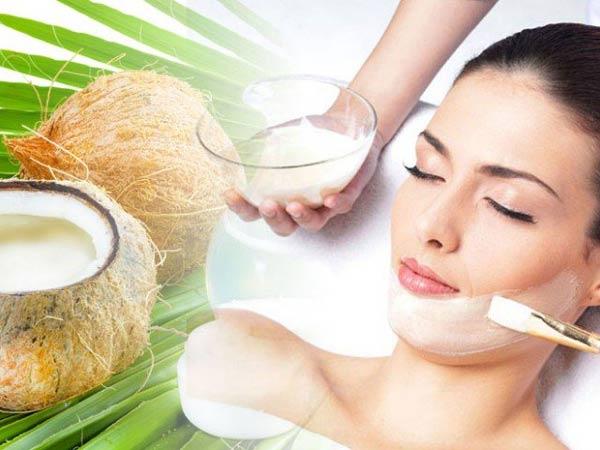 Sử dụng dầu dừa để dưỡng da mặt