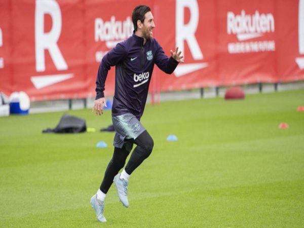 Messi hồi phục thần tốc, tươi rói trở lại luyện tập