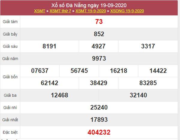Soi cầu KQXS Đà Nẵng 23/9/2020 thứ 4 cực chuẩn xác